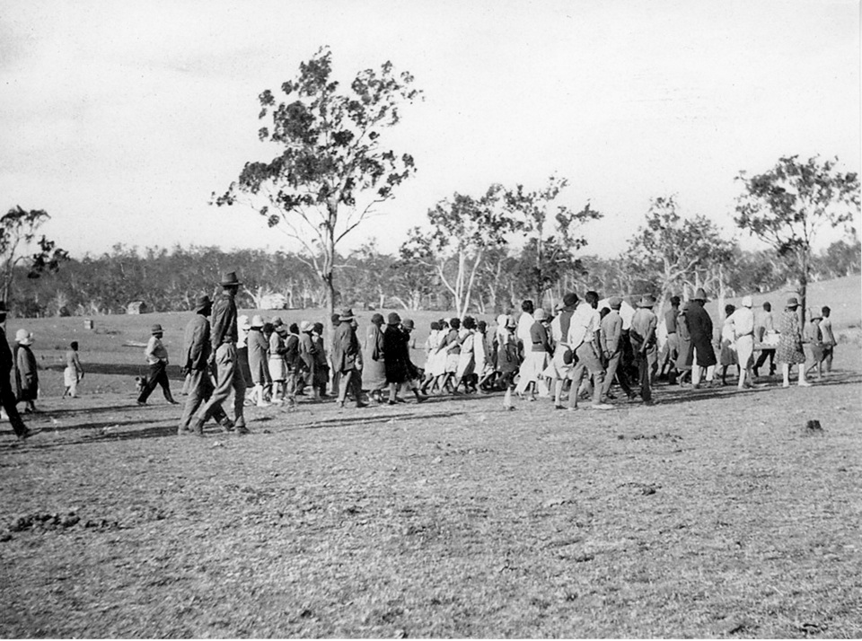 Funeral procession at Barambah Aboriginal Settlement c1928