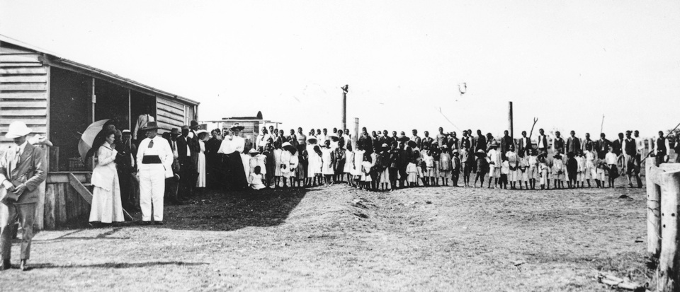 Governer Sir William McGreggor visits Barambah Aboriginal Settlement 1911
