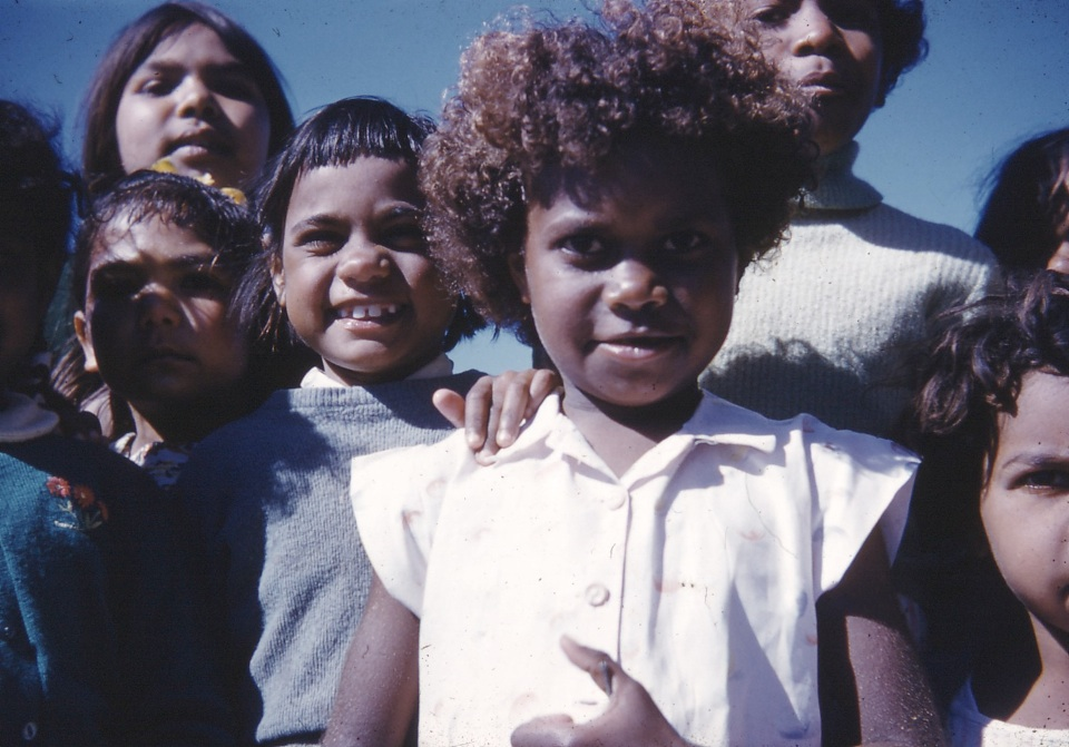 Group of children at Cherbourg c1960