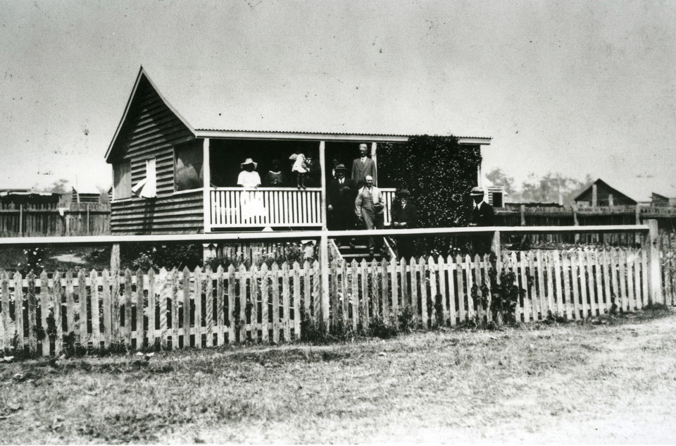 House Inspection at Barambah Aboriginal Settlement c1925