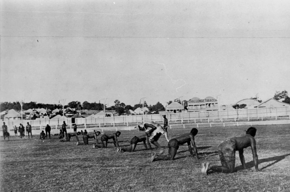 Men possibly from Barambah in Sydney 1901