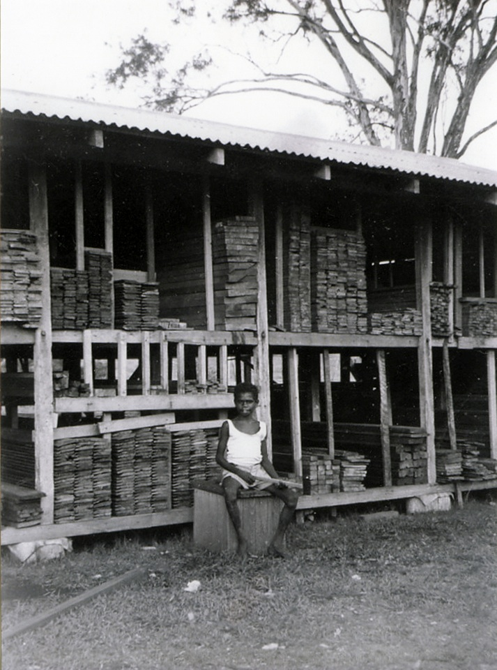 Milled timber at Cherbourg sawmill c1930