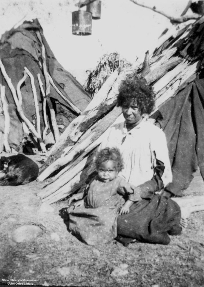 Mother and child at Barambah Aboriginal Settlement 1905