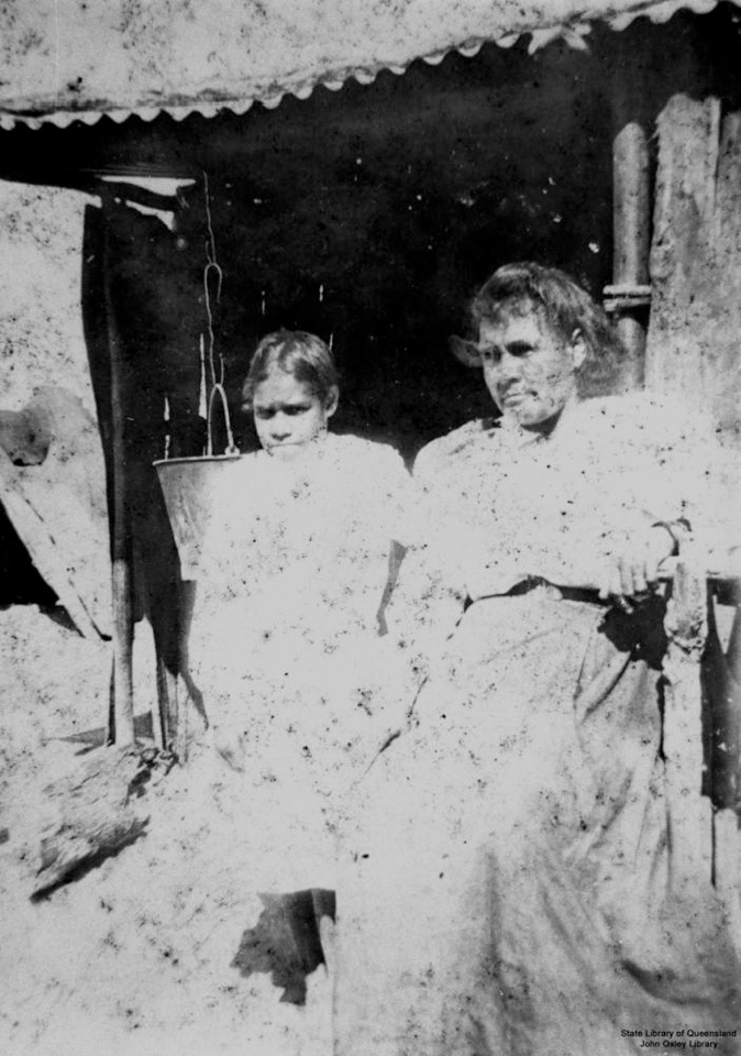 Mother and daughter at Barambah Aboriginal Settlement 1905