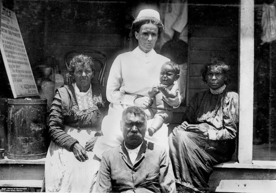Nurse with three generations at Barambah Aboriginal Settlement 1911
