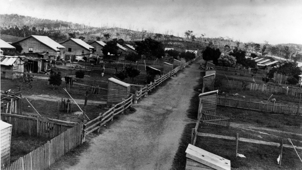 Samuals Lane at Barambah Aboriginal Settlement c1925