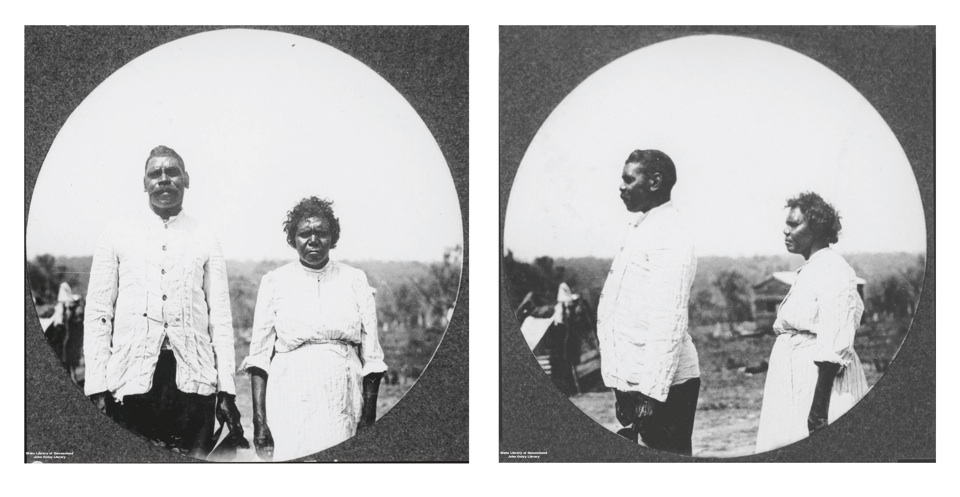 Sandy Miller and Eliza Williams at Barambah Aboriginal Settlement 1911