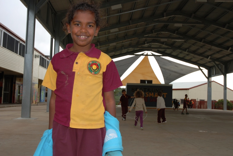 Schoolgirl-at-Cherbourg-State-School_2012