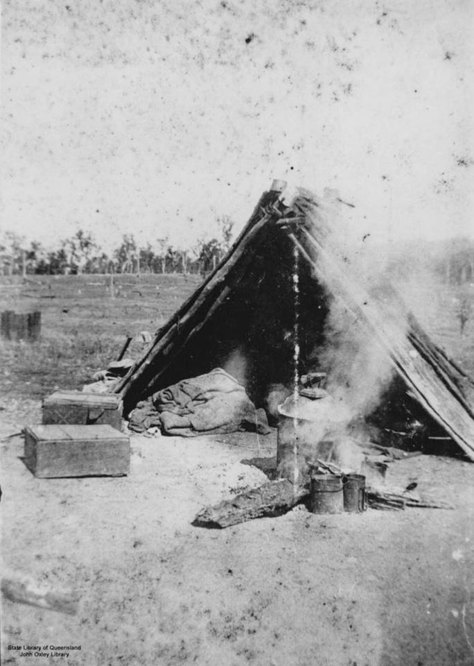 Shelter at Barambah Aboriginal Settlement 1905
