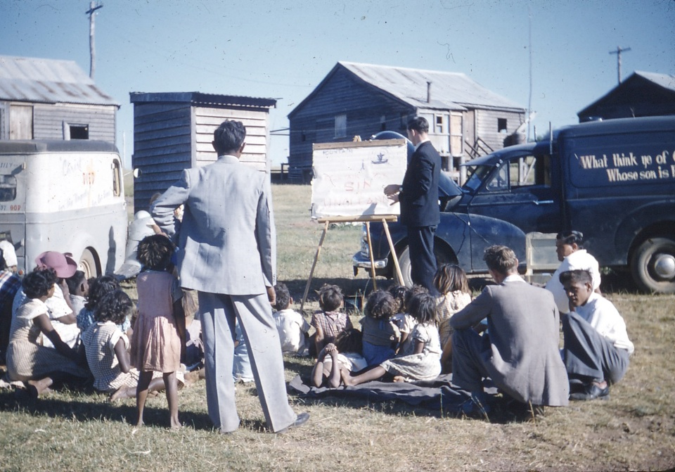 Sunday school at Cherbourg Aboriginal Settlement c1960