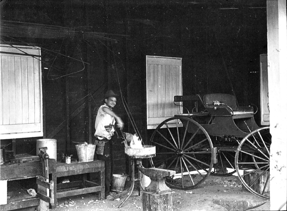 The Blacksmith Workshop at Cherbourg Aboriginal Settlement c1930