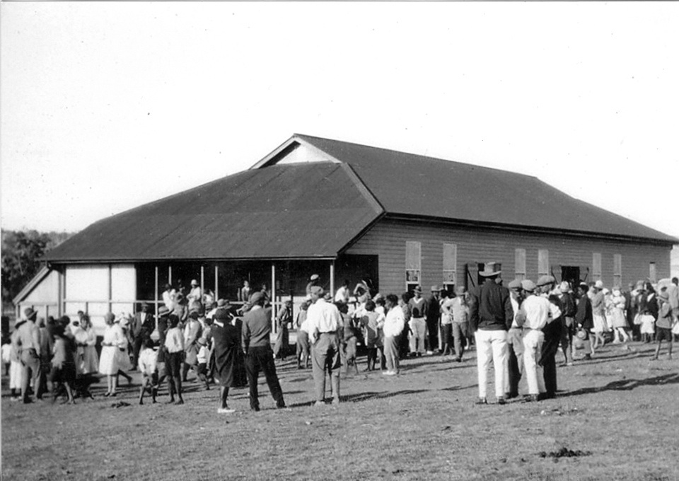 The Welfare Hall at Barambah Aboriginal Settlement c1920