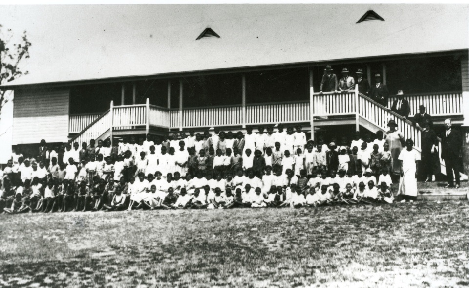 The opening of the new school at Barambah Aboriginal Settlement 1924