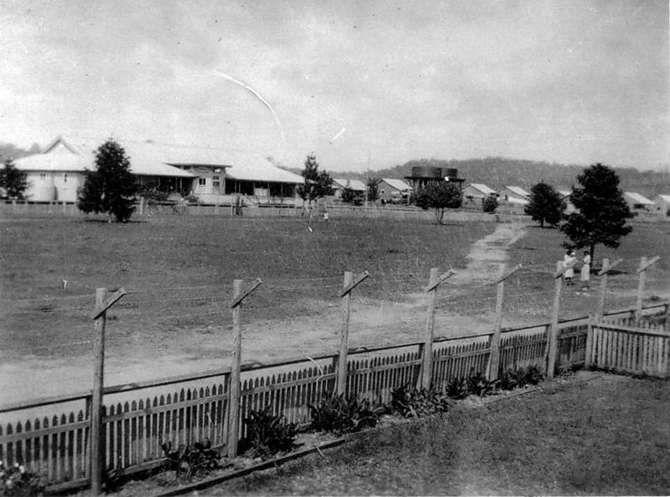 View of Cherbourg Hospital and the Camp from the Girls Dormitory c1930