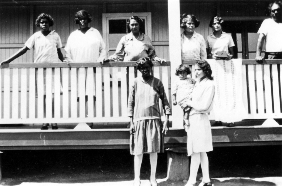 Women at the Girls Dormitory at Cherbourg Aboriginal Settlement c1930